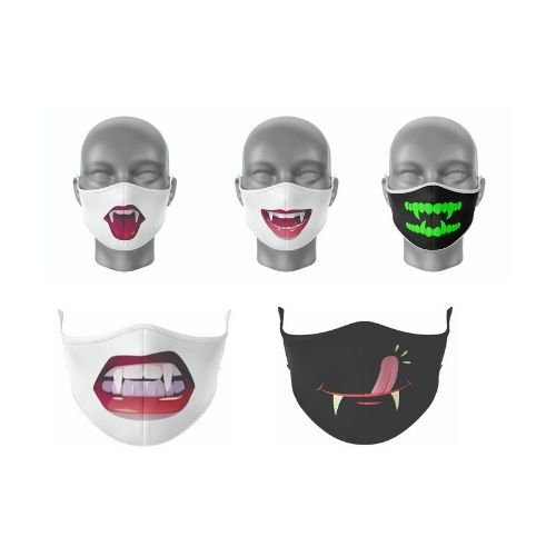 Kit Máscara Antibacteriana Vampiro