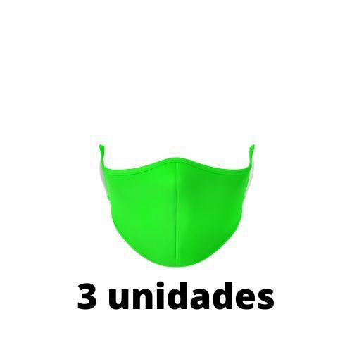 Máscara Antibacteriana Verde Kit C/ 3 Unidades