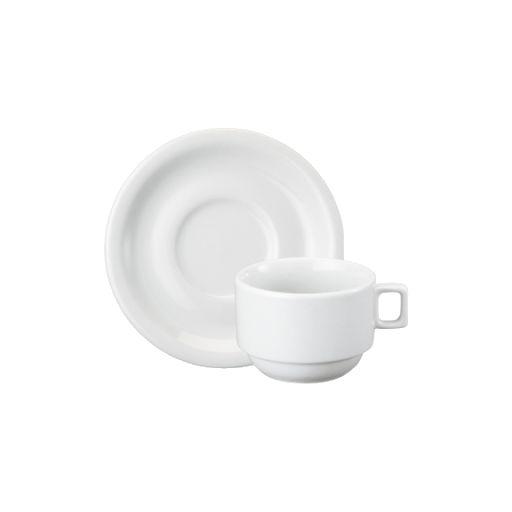 Xícara de Chá de Porcelana Schmidt C/ Pires