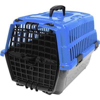 Caixa Transporte Pet Injet Azul N1