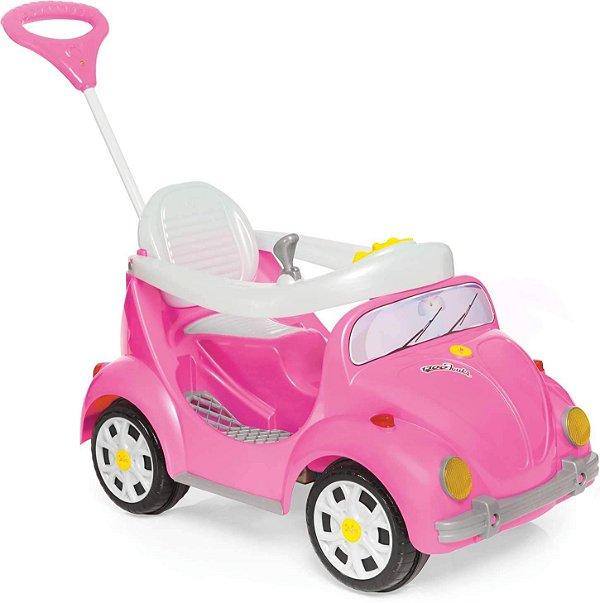 Carro Calesita Com Pedal Fouks Rosa