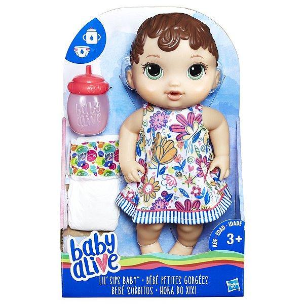 Boneca Hasbro Baby Alive Hora do Xixi Morena