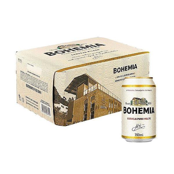 Cerveja Bohemia Puro Malte com 12 Unid.  Lata 350ml