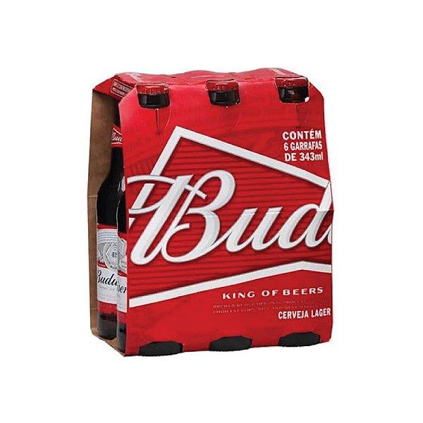Cerveja Budweiser Long Neck com 6 Unid. 330ml