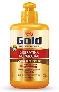 Creme de Pentear Niely Gold Querantina 280g