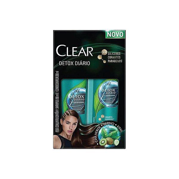 Kit Shampoo e Condicionador Clear Detox Diário 200ml