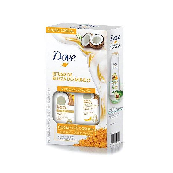 Kit Shampoo Dove Ritual de Reparação e Condicionador 200ml