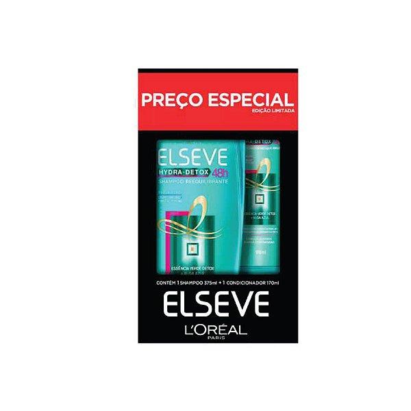 Kit Shampoo Elseve Hydra Detox 375ml e Condicionador 170ml