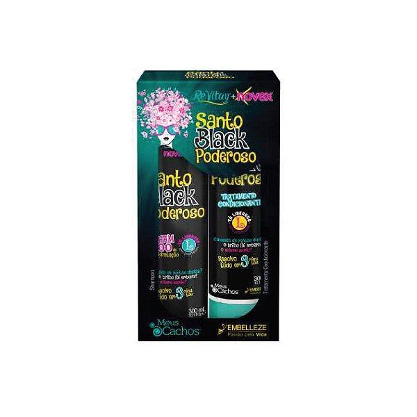 Kit Shampoo e Condicionador Novex Santo Black Poderoso 300ml
