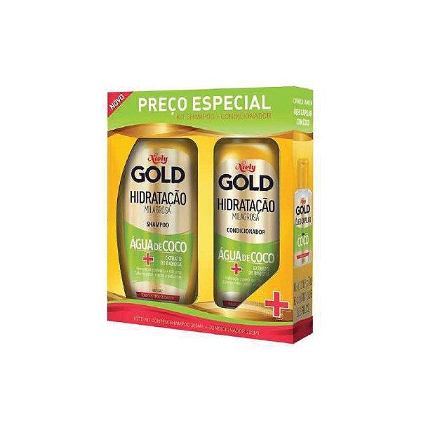Niely Gold - Kit Shampoo Hidratação Milagrosa 300ml e Condicioandor 200ml