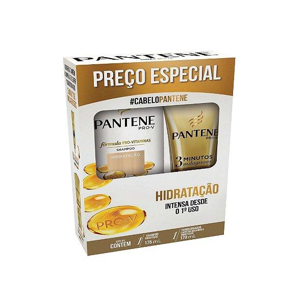 Kit Shampoo Pantene Hidratação e Condicionador 170ml