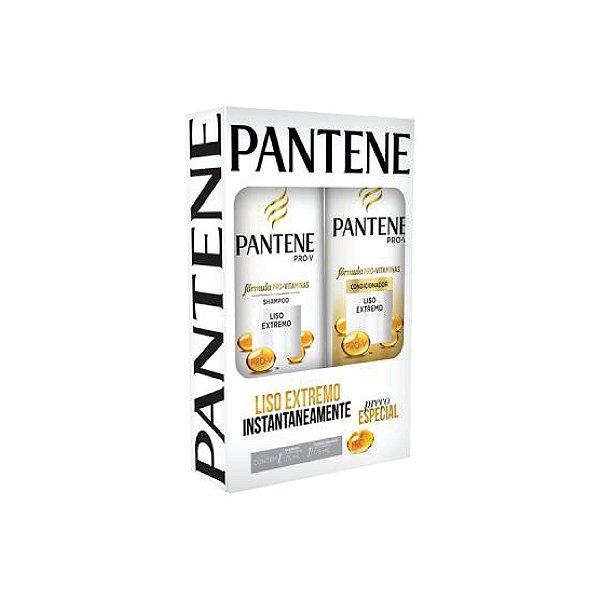 Kit Shampoo Pantene Liso Extremo 175ml e Condicionador 170ml