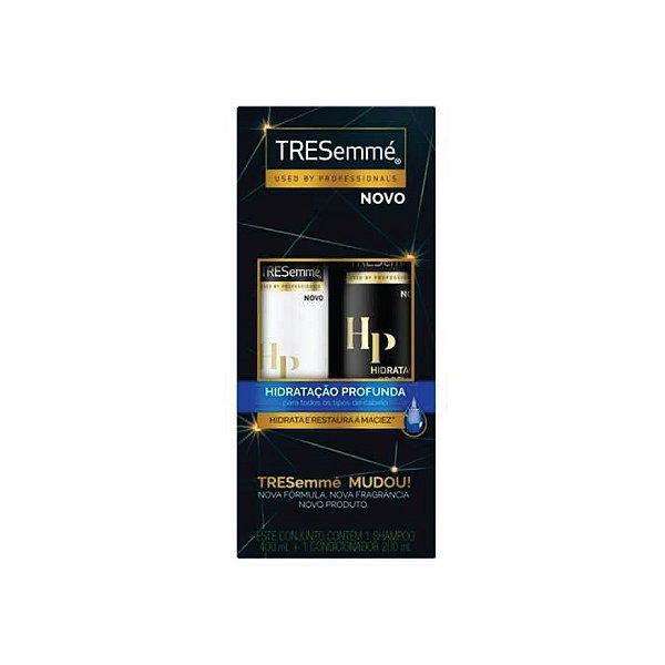 Kit Shampoo Tresemmé Hidratação Profunda 400ml e Condicionador 200ml