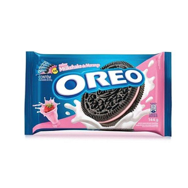Biscoito Oreo Recheado Milkshake Morango 144g
