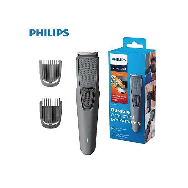 Aparador de Pelos Philips Beardtrimmer BT1209/15 Séries 1000 Sem Fio - USB