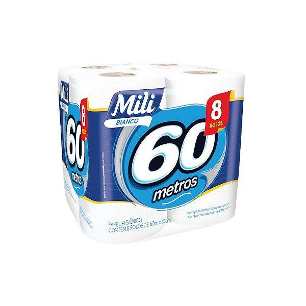 Papel Higiênico Mili Bianco 8x60m