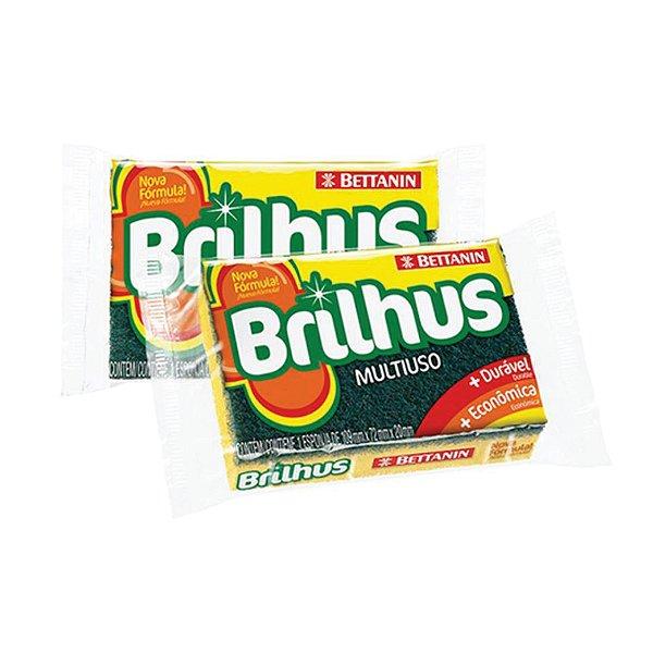 Esponja Multiuso Bettanin  Brilhus Dupla Face Ref451