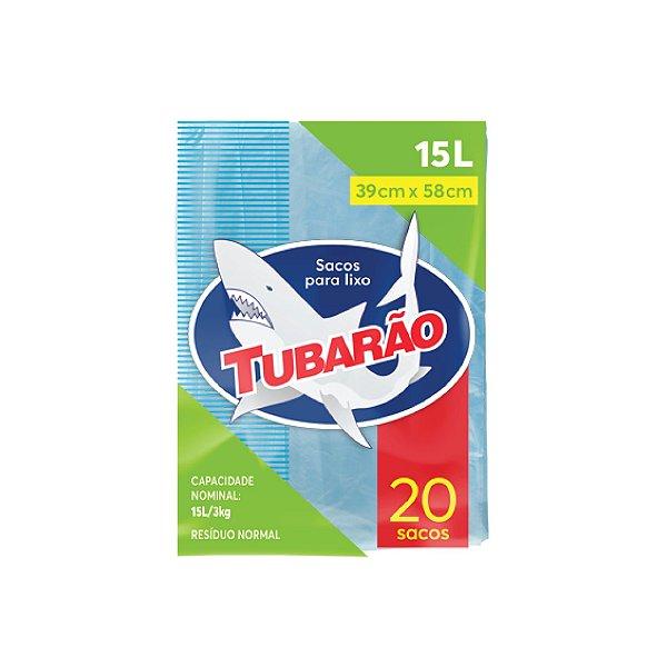 Saco de Lixo Tubarão 15L