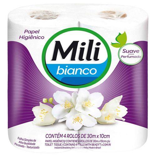 Papel Higiênico Mili Bianco Perfumado 4x30m