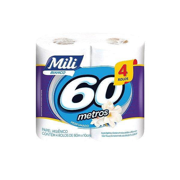 Papel Higiênico Mili Perfumado 4x60m