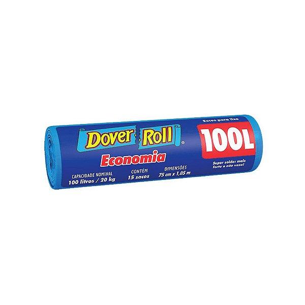 Saco de Lixo Dover Roll 100L com 15 Sacos