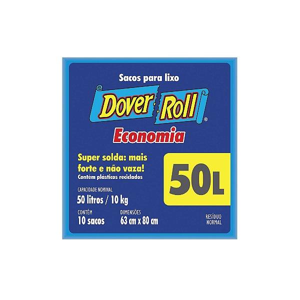 Saco de Lixo Dover Roll 50l com 10 Sacos
