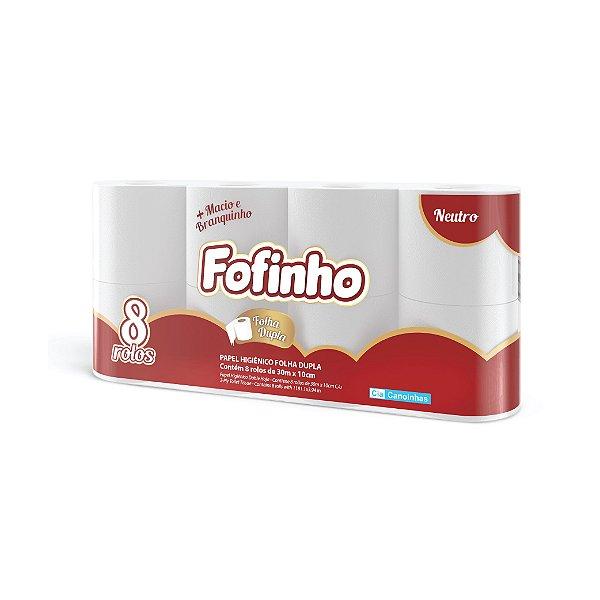 Papel HigIênico Fofinho Folha Dupla 8x30m Neutro