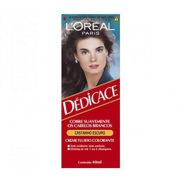 Coloração L'Oréal Paris Dédicace 34 40ml Castanho Escuro