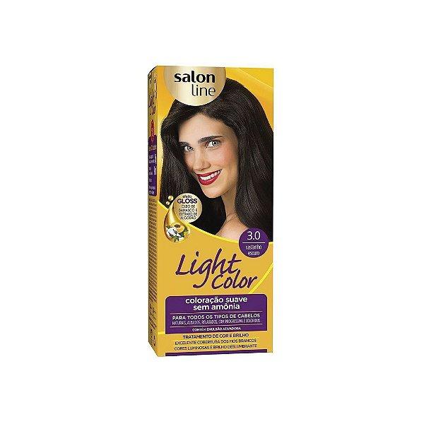 Coloração Salon Line Light Color 3.0 Castanho Escuro