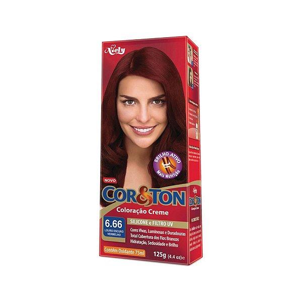 Coloração Cor&Ton Mini kit 6.66 Louro Escuro Vermelho