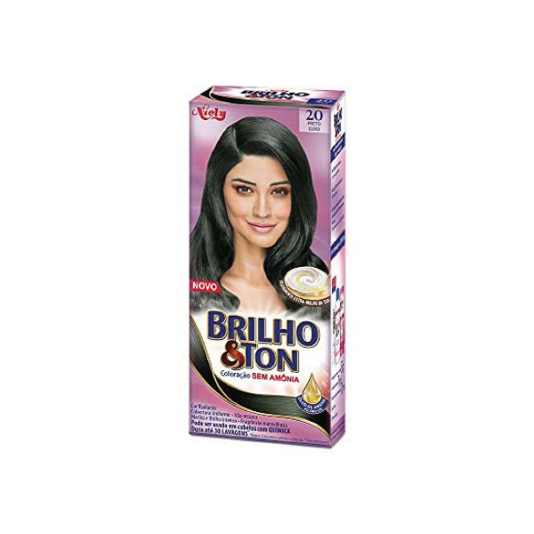 Coloração Niely Brilho&Ton 20 Preto Luxo