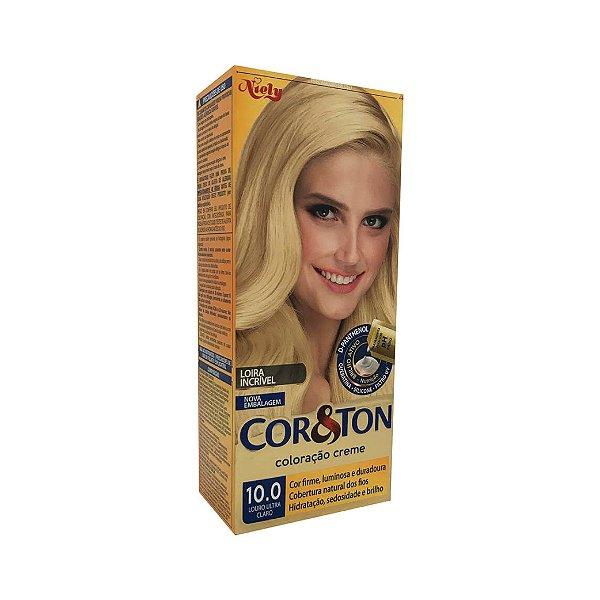 Coloração Cor&Ton Mini kit 10.0 Louro Ultra Claro