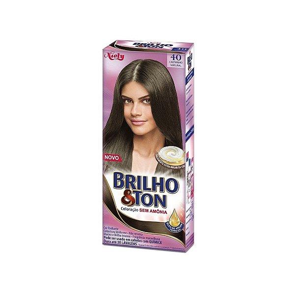 Coloração Niely Brilho&Ton 40 Castanho Natural