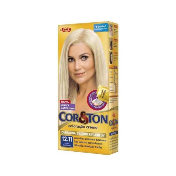 Coloração Cor&Ton Mini kit 12.11 Louro Platinado