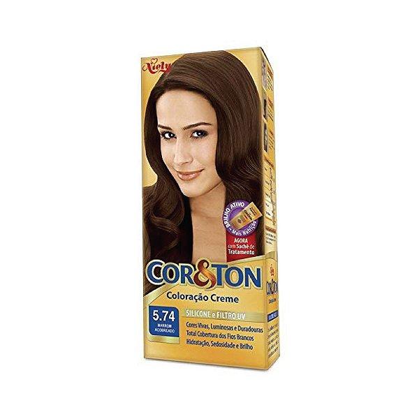 Coloração Cor&Ton Mini kit 5.74 Marrom Acobreado