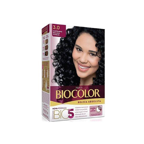 Coloração Biocolor Kit Creme 3.0 Castanho Escuro