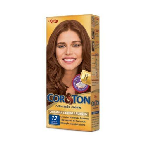 Coloração Cor&Ton Mini kit 7.7 Marrom Dourado