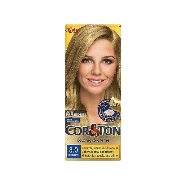 Coloração Cor&Ton Mini kit 8.0 Louro Claro