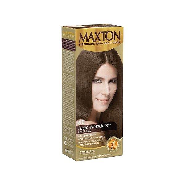 Tintura Creme Maxton Kit Prático 6.0 Louro Escuro