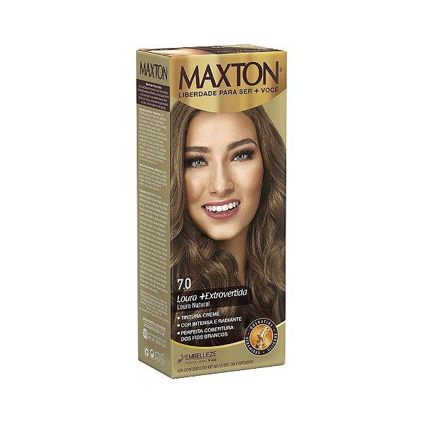 Tintura Creme Maxton Kit Prático 7.0 Louro Natural