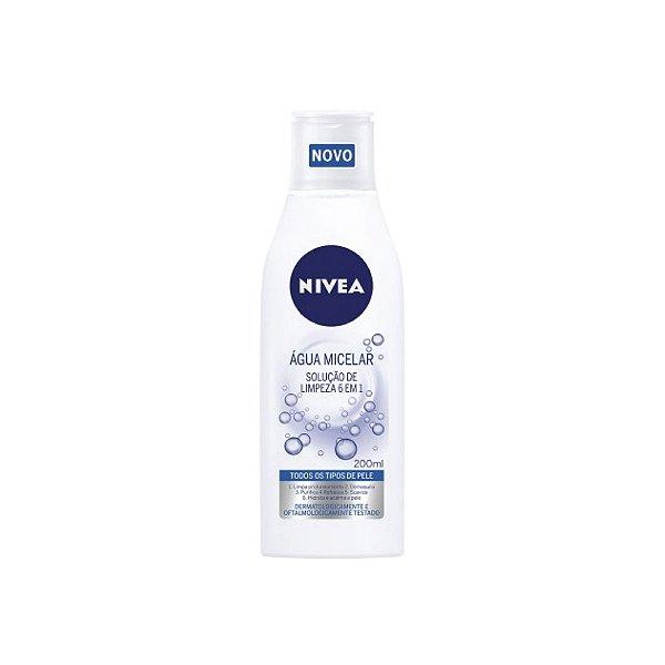 Água Micelar Nivea 6 em 1 Solução de Limpeza 200ml