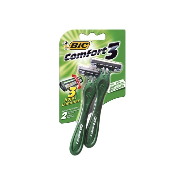 Barbeador Bic Comfort 3 Pele Sensitive C/2