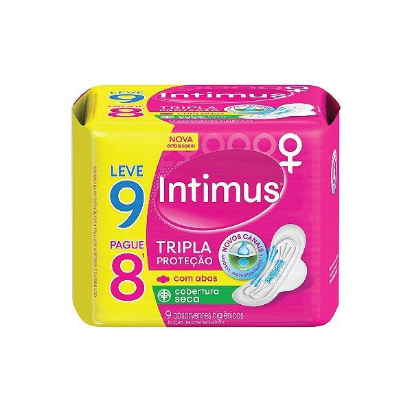 Absorvente Intimus Gel Tripla Proteção Com Abas Seca Leve 9 Pague 8