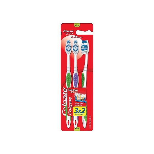 Escova Dental Colgate Classic Clean Leve 3 Pague 2