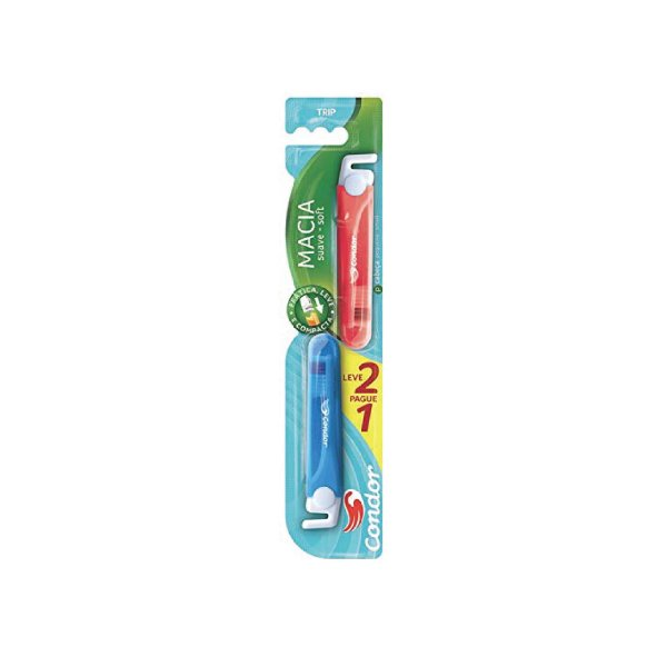 Escova Dental Condor Trip 8035-0 Leve 2 Pague 1