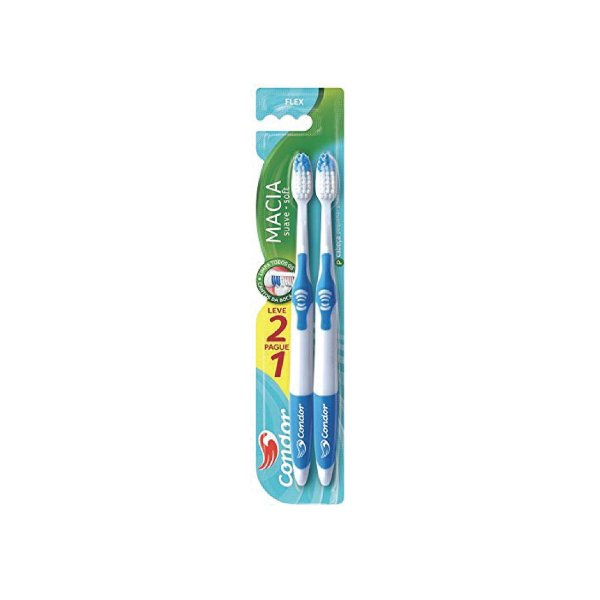 Escova Dental Condor Flex 8046-0 Leve 2 Pague 1