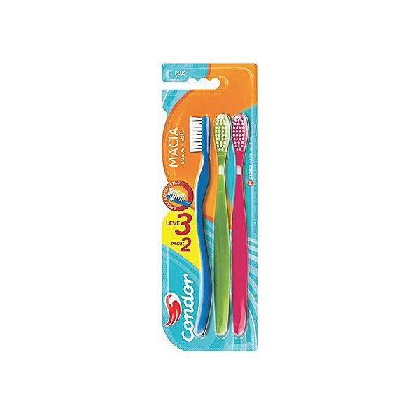 Escova Dental Condor Plus 8108-0 Leve 3 Pague 2