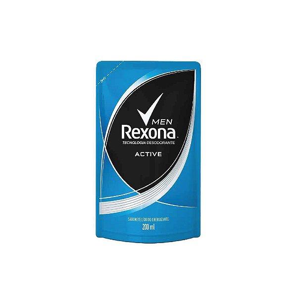 Sabonete Líquido Rexona Men Active Refil 200ml
