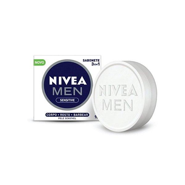 Sabonete Nivea 3em1 Men Sensitive 90g