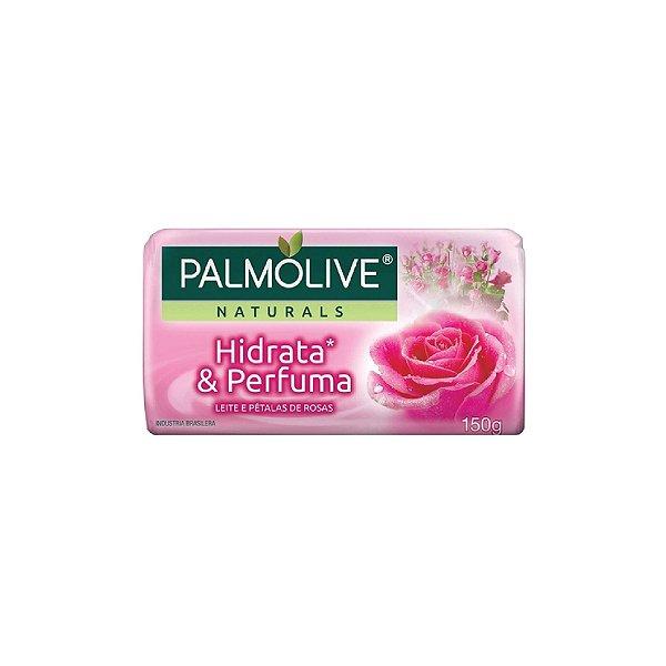 Sabonete Palmolive Suave Hidrata e Perfuma Leite e Pétalas de Rosas 150g